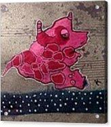 Pink Beastie Acrylic Print