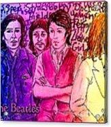 Pink Beatles From Rainbow Series Acrylic Print