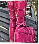 Pink Boots Acrylic Print by Jasna Buncic