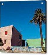 Pink Building In Historic Neighborhood Acrylic Print
