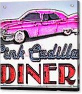 Pink Cadillac Diner Acrylic Print