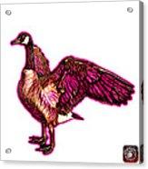 Pink Canada Goose Pop Art - 7585 - Wb Acrylic Print