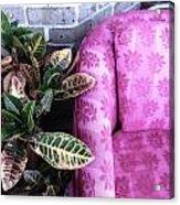 Pink Chair Acrylic Print