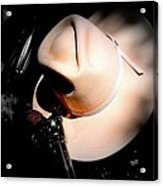 Pink Cowgirl Hat Acrylic Print