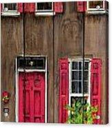 Pink Door Acrylic Print