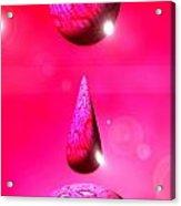 Pink Drops Acrylic Print