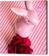 Pink Easter Bunny Decoration Acrylic Print