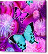 Pink Fantasy Flower Acrylic Print