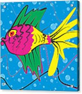 Pink Fish Acrylic Print