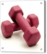 Pink Fixed-weight Dumbbells Acrylic Print