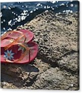 Pink Flip Flop Acrylic Print