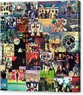 Pink Floyd Collage II Acrylic Print by Taylan Apukovska