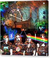 Pink Floyd Collage Acrylic Print