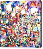 Pink Floyd Live Concert Watercolor Painting.1 Acrylic Print