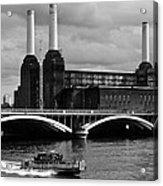 Pink Floyd's Pig At Battersea Acrylic Print by Dawn OConnor