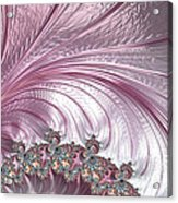 Pink Froth A Fractal Abstract Acrylic Print