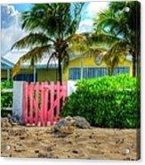 Pink Gate Acrylic Print