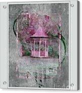Pink Gazebo Acrylic Print