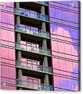 Pink Glass Clouds Acrylic Print