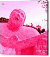 Pink Guitarist Acrylic Print
