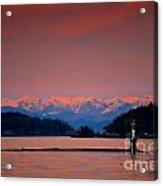 Pink Horizon Acrylic Print