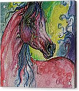 Pink Horse With Blue Mane Acrylic Print