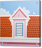 Pink House Acrylic Print