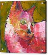 Pink Kitty Acrylic Print
