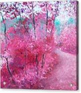 Pink Landscape Acrylic Print