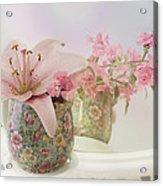 Pink Lily Rainbow Acrylic Print
