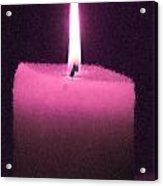 Pink Lit Candle Acrylic Print