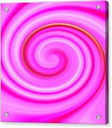 Pink Lollipop Swirl Acrylic Print