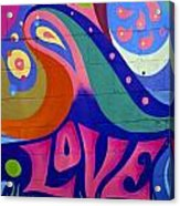Pink Love Graffiti Nyc 2014 Acrylic Print