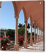 Pink Marble Colonnade Acrylic Print