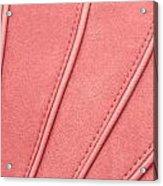 Pink Moleskin Acrylic Print