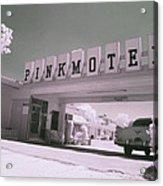 Pink Motel Acrylic Print