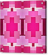 Pink On Pink Panorama 4 Acrylic Print