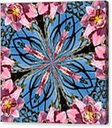Pink Orchid Kaleidoscope 2 Acrylic Print
