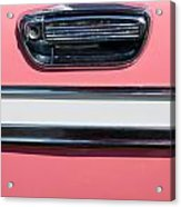 Pink Paint On Old Vintage Car Acrylic Print