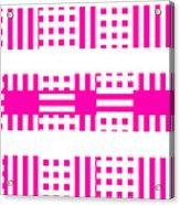 Pink Patterns Acrylic Print
