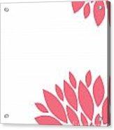 Pink Peony Flowers Acrylic Print