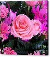 Pink Pink Love Is Pink Acrylic Print