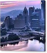 Pink Pittsburgh Morning Acrylic Print