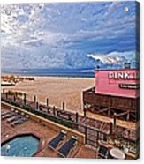 Pink Pony And Approaching Storm Acrylic Print