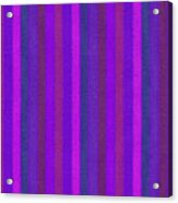 Pink Purple And Blue Striped Textile Background Acrylic Print