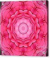 Pink Rose Bouquet Kaleidoscope Acrylic Print