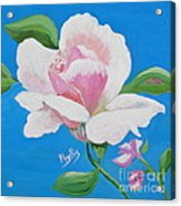 Pink Rose In Paint Acrylic Print