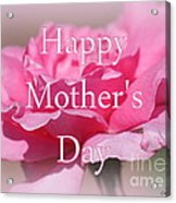 Pink Rose Mother's Day Card Acrylic Print