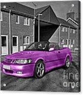 Pink Saab  Acrylic Print