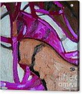 Pink Sandles Acrylic Print